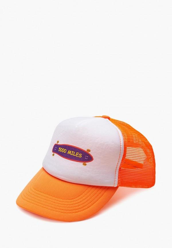 женская бейсболка 5000 miles, оранжевая