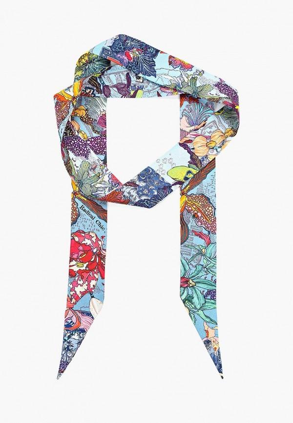 женский шарф radical chic, голубой