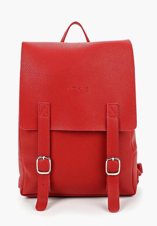 женский рюкзак lokis, красный