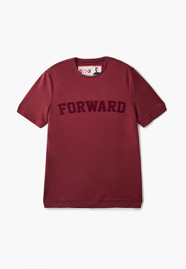 женская футболка forward, бордовая