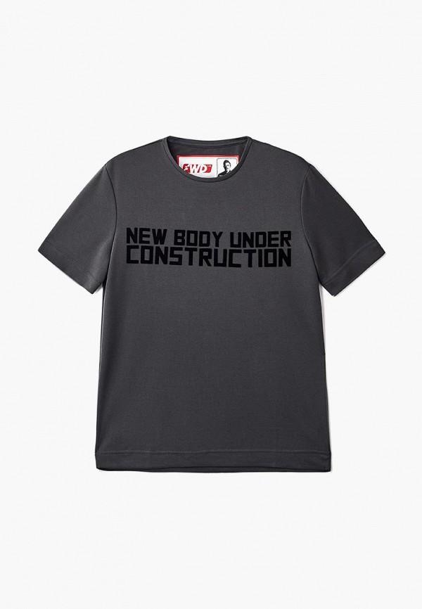 женская футболка forward, серая