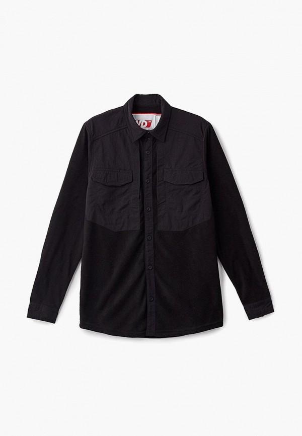 женская рубашка с длинным рукавом forward, черная