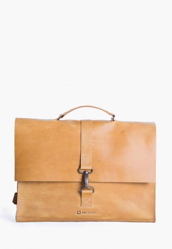 женская сумка incarne, коричневая
