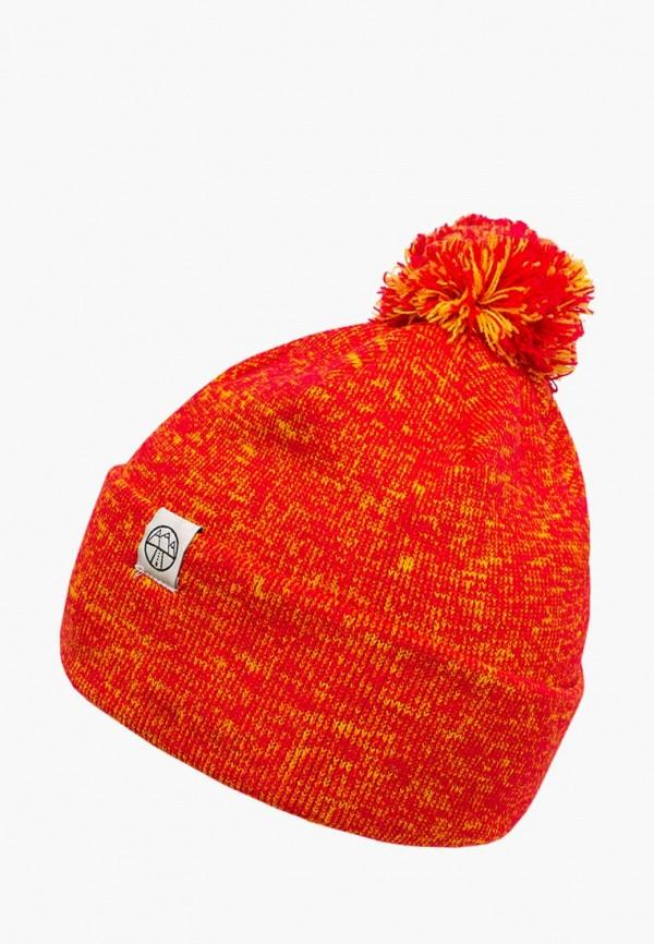 женская шапка 5000 miles, оранжевая