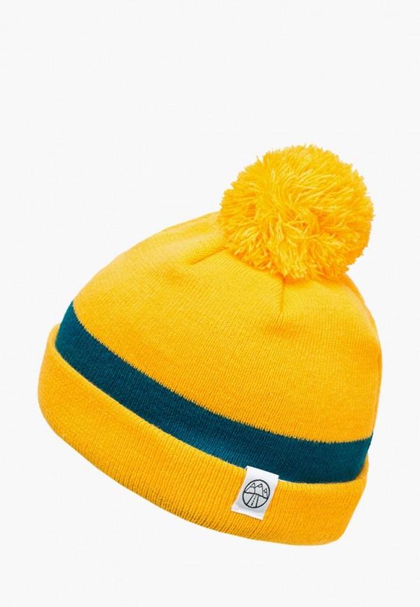 женская шапка 5000 miles, желтая