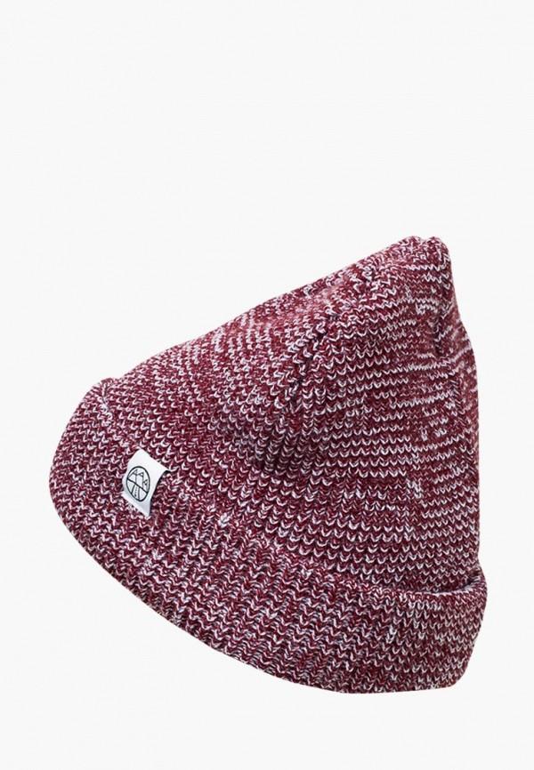 женская шапка 5000 miles, бордовая