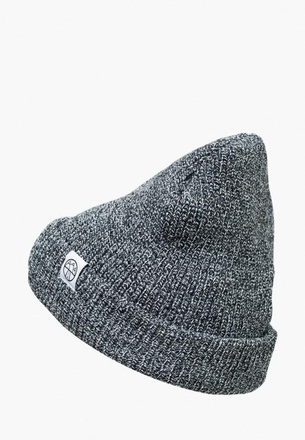 женская шапка 5000 miles, серая