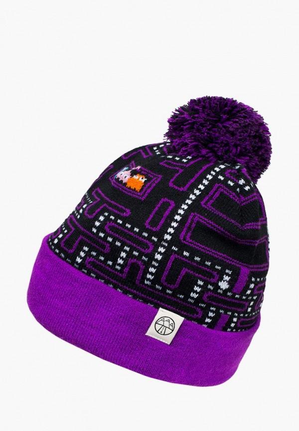женская шапка 5000 miles, фиолетовая