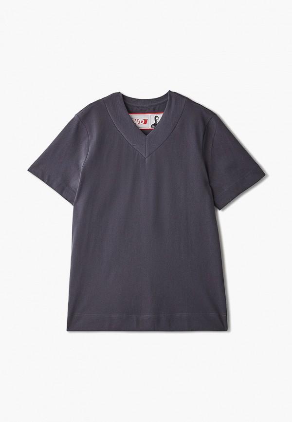 женская футболка fwd lab, серая