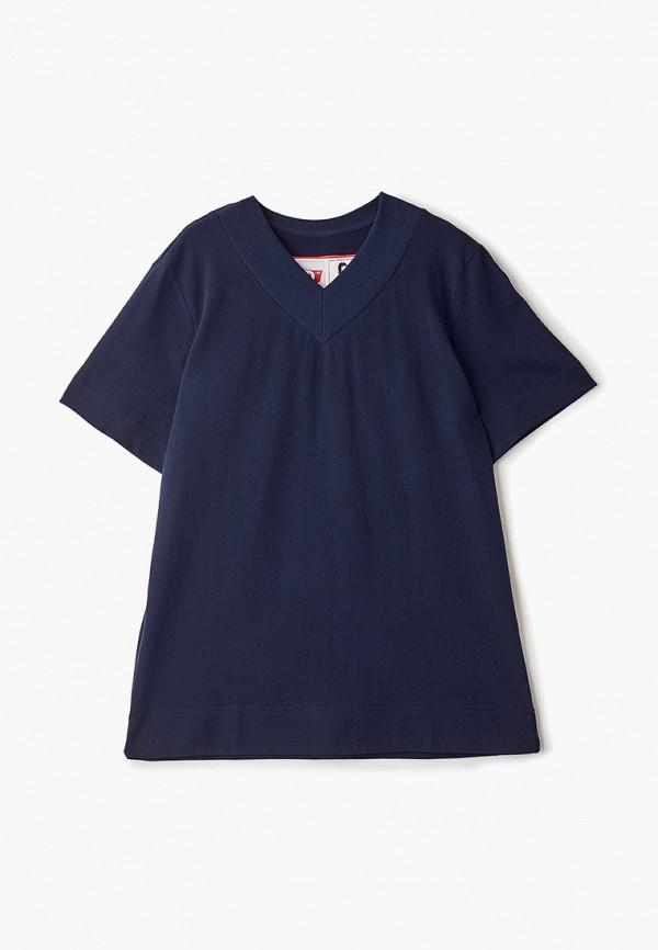 женская футболка fwd lab, синяя