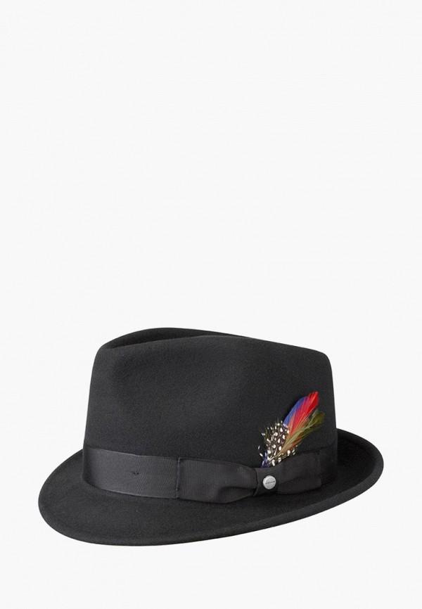 женская шляпа stetson, черная