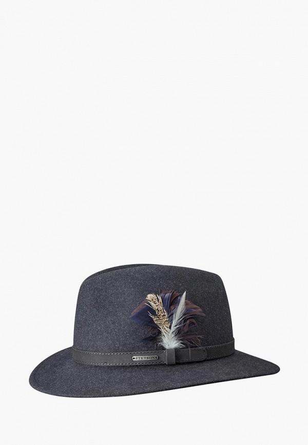женская шляпа stetson, серая