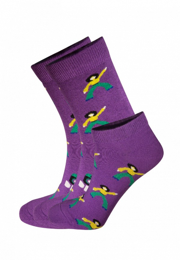 Комплект bb socks bb socks MP002XU0E7FW animal embroidery invisible socks 3pairs