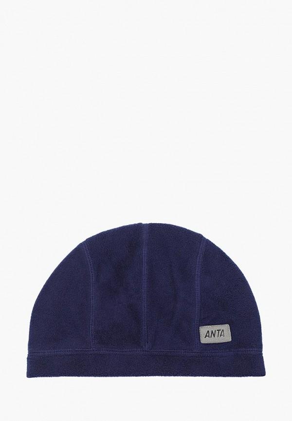женская шапка anta, синяя