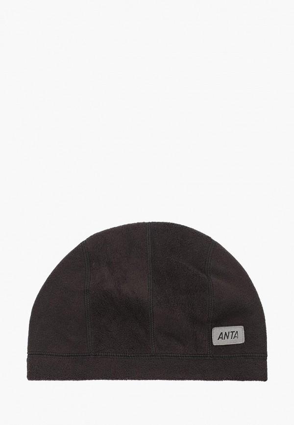 женская шапка anta, черная