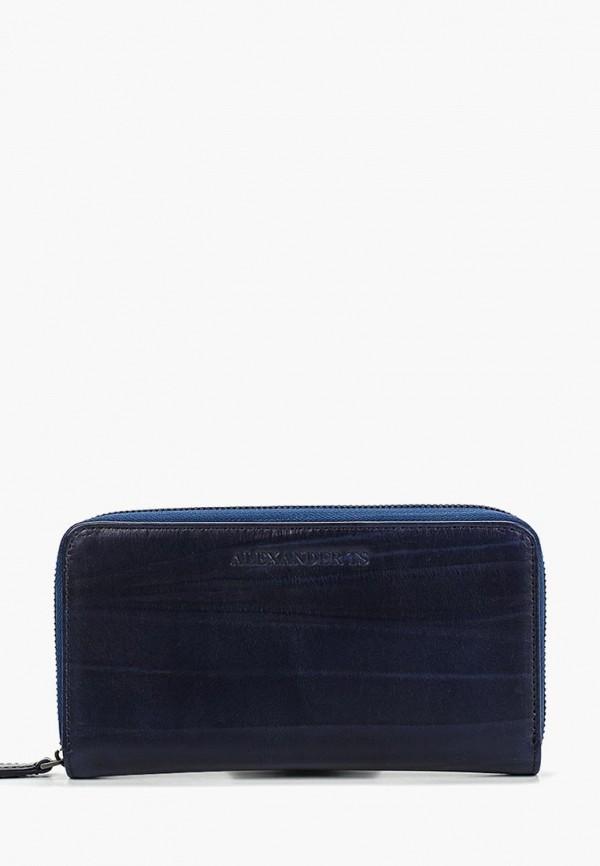женский кошелёк alexander tsiselsky, синий