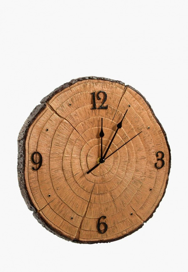 Купить Часы настенные Viron, mp002xu0ea4j, коричневый, Весна-лето 2019