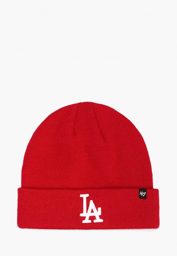 женская шапка 47 brand, красная