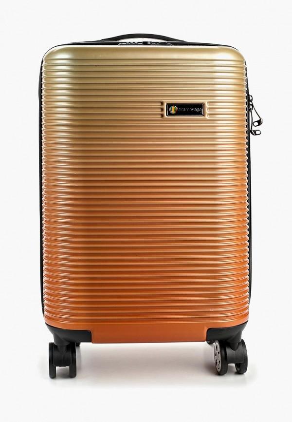женский чемодан sunvoyage, золотой