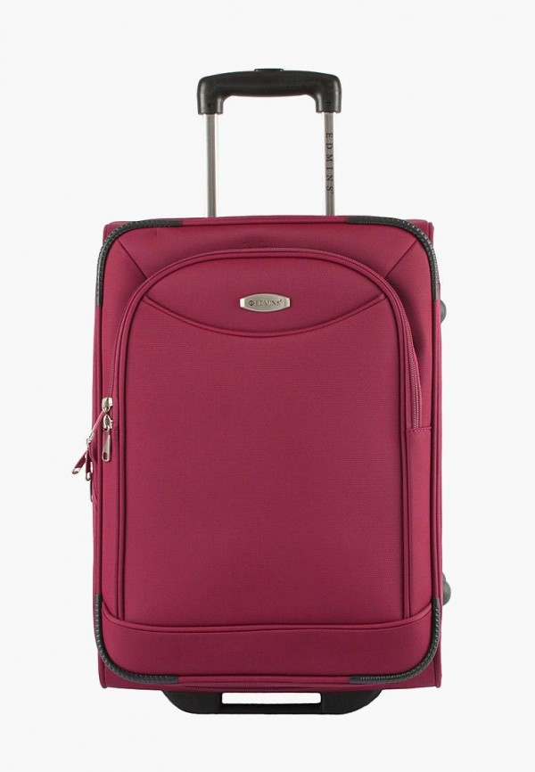 женский чемодан edmins, бордовый