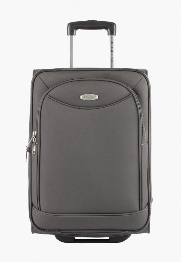 женский чемодан edmins, серый
