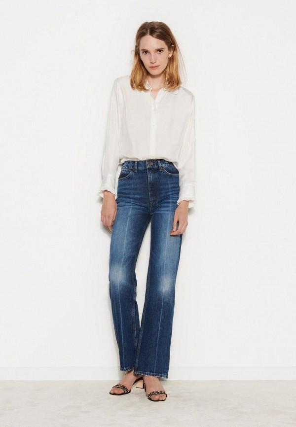женские прямые джинсы sandro, синие