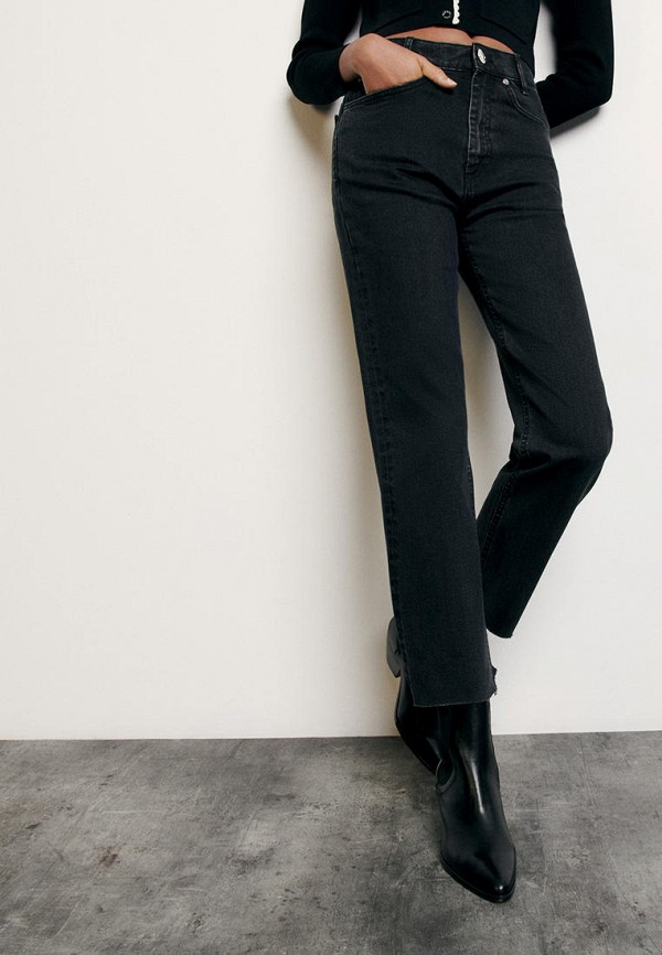 женские прямые джинсы sandro, черные