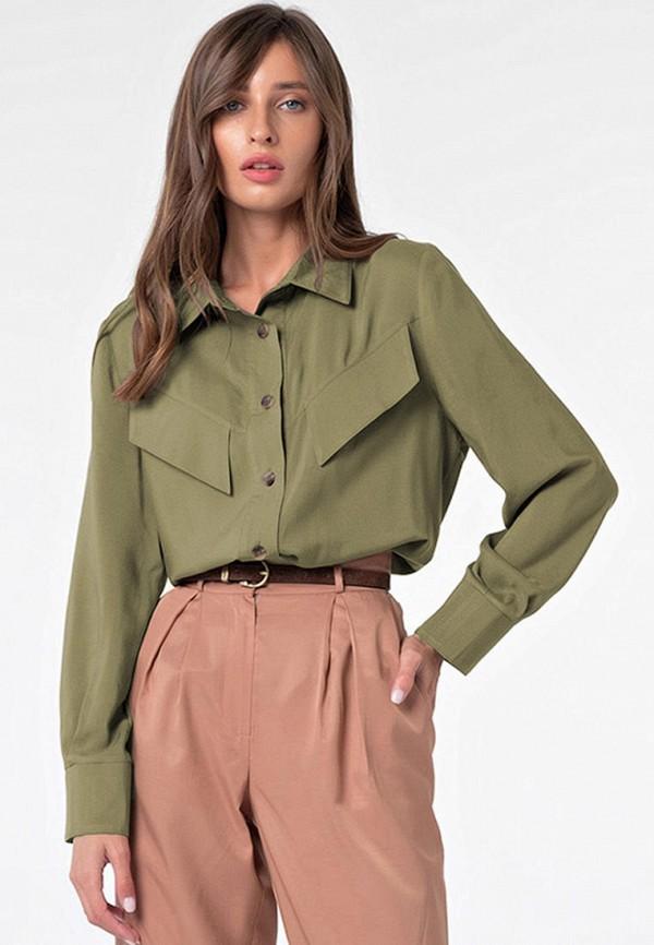 женская рубашка с длинным рукавом fly, хаки