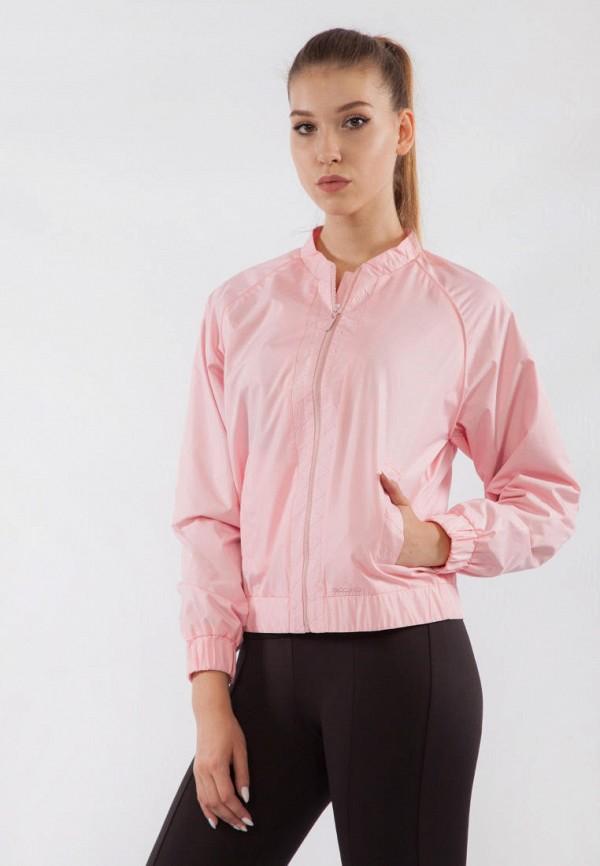 женская ветровка bodro design, розовая