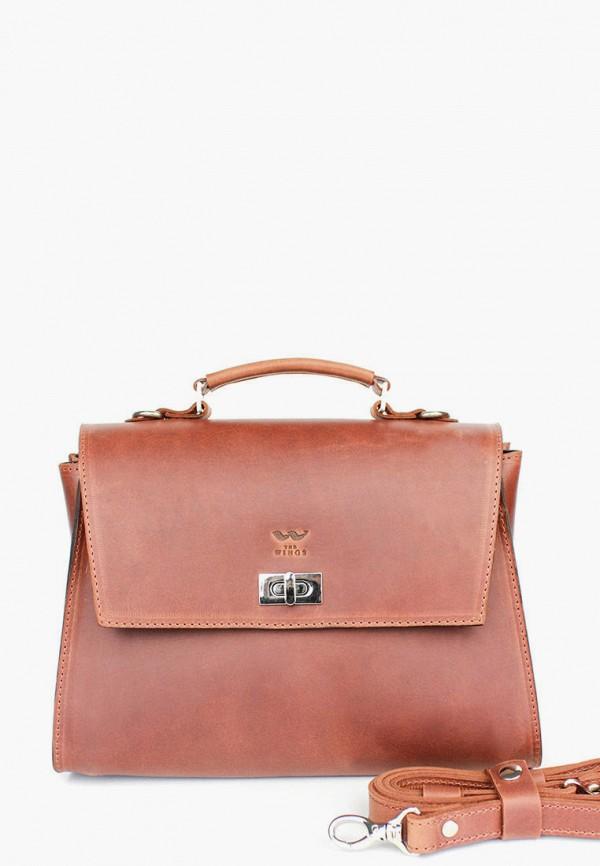 женская сумка the wings, коричневая