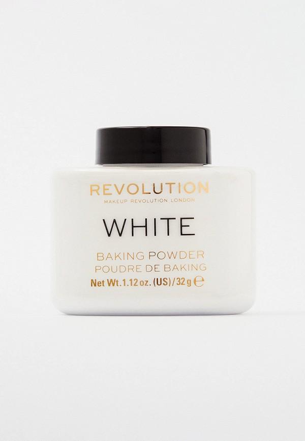 женская пудра revolution, белая
