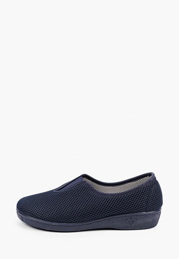 женские туфли с закрытым носом finn line, синие