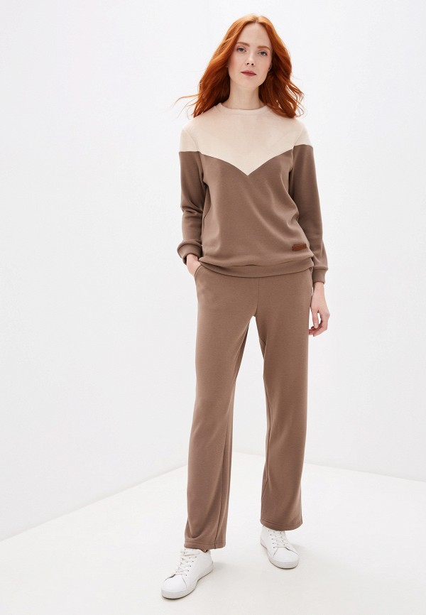 женский костюм fashion.love.story, коричневый