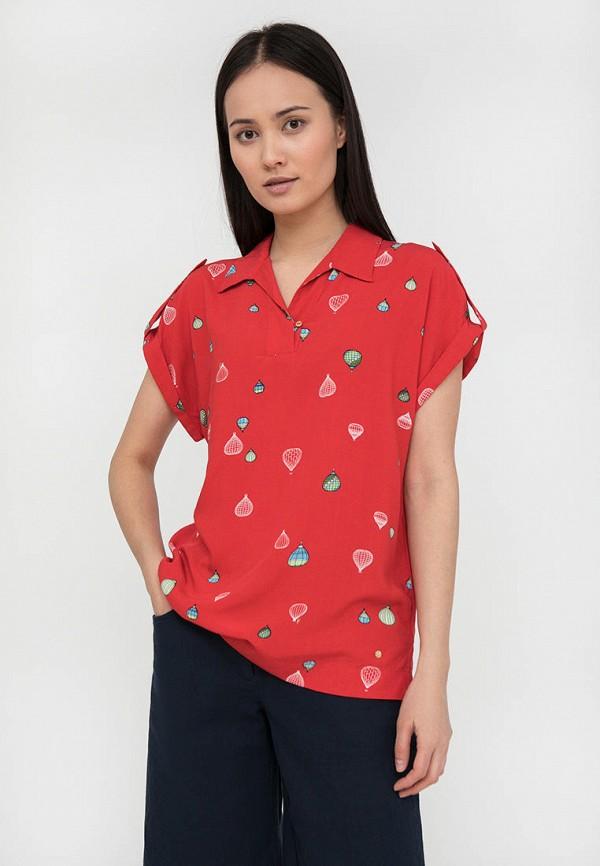 Блуза Finn Flare красного цвета