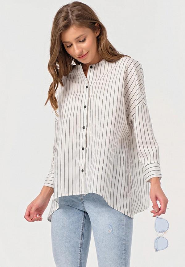 женская блузка с длинным рукавом fly, белая