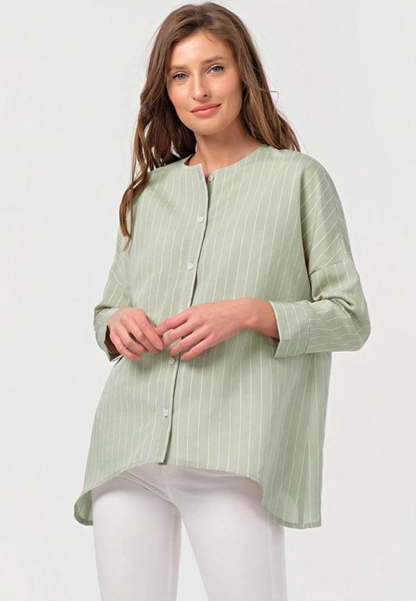 женская блузка с длинным рукавом fly, зеленая