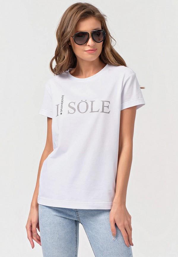 женская футболка fly, белая