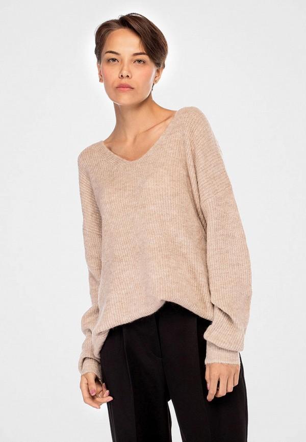 женский пуловер anna anna, бежевый