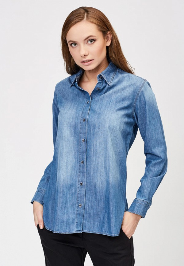женская джинсовые рубашка whitney, синяя