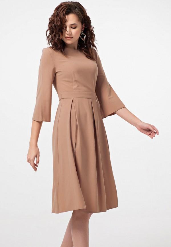 женское повседневные платье fly, бежевое