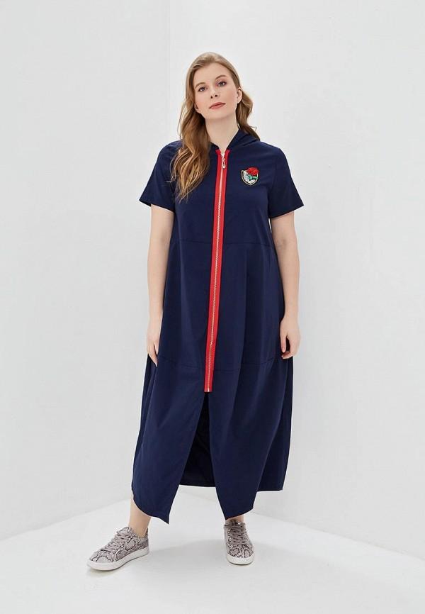 женское повседневные платье milanika, синее
