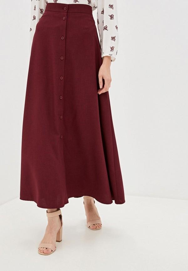 женская юбка alina assi, бордовая