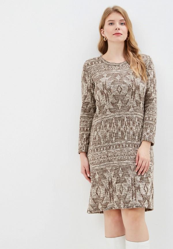 женское платье стикомода, бежевое