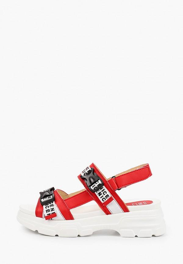 женские сандалии palazzo d'oro, красные