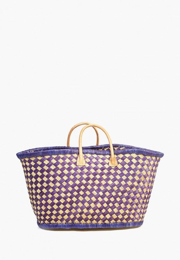 женская сумка le comptoir de la plage, фиолетовая