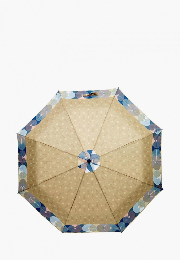 женский складные зонт labbra, бежевый
