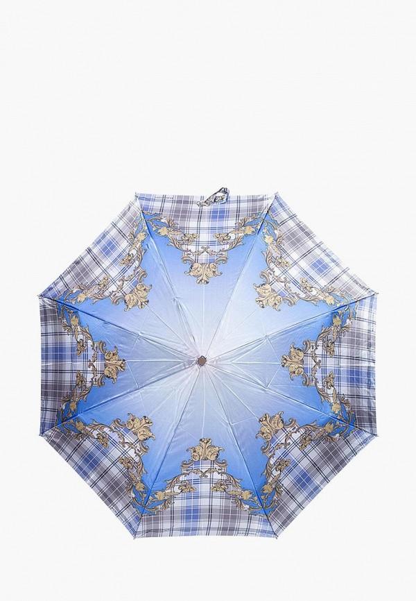 женский складные зонт eleganzza, голубой