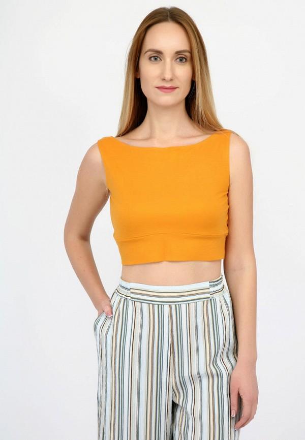 женский топ panove, оранжевый