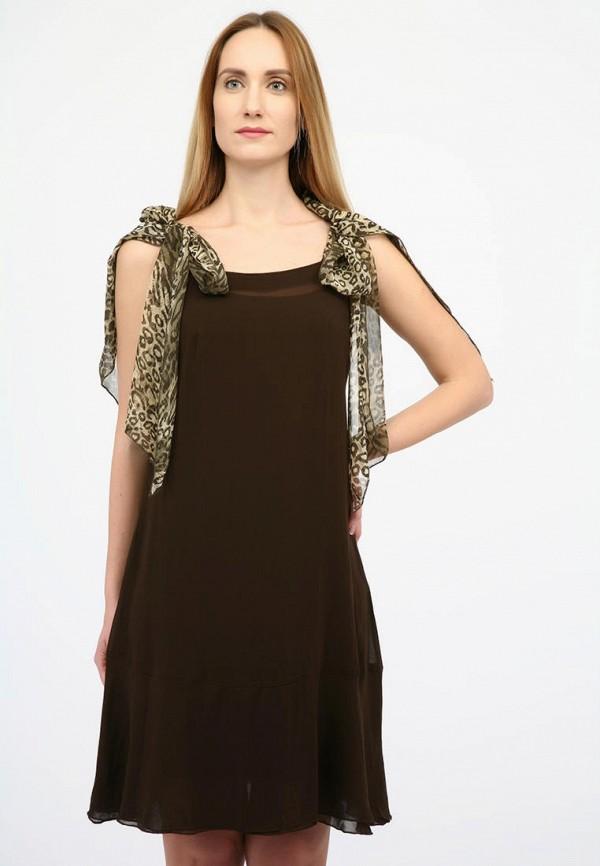женское вечерние платье panove, коричневое