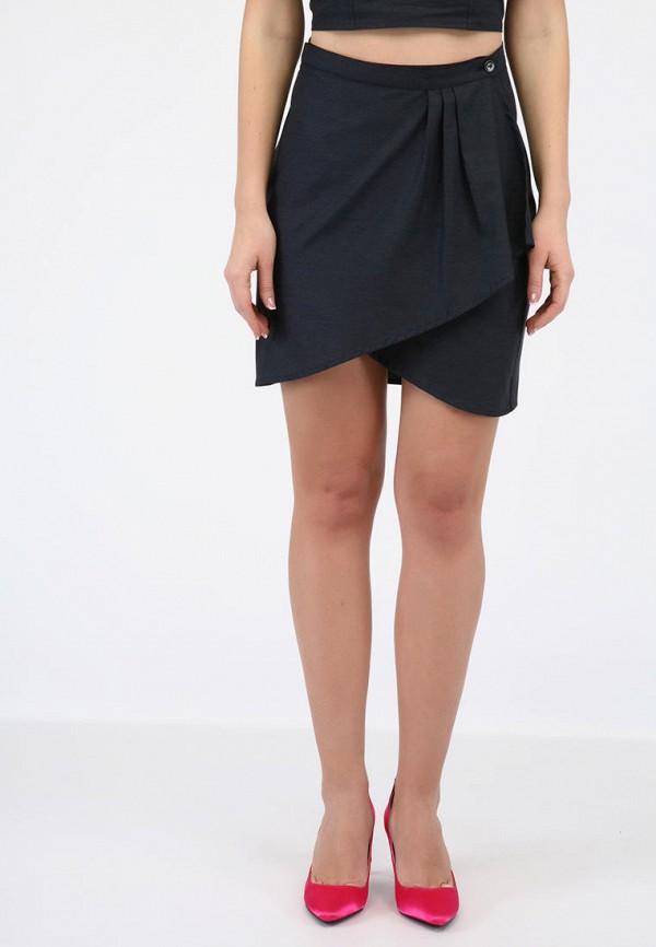 женская прямые юбка panove, синяя